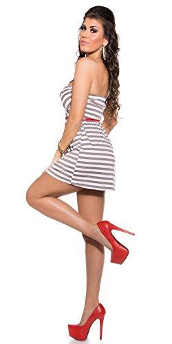 Sexy KouCla Bandeau Minikleid, gestreift m. Gürtel Koucla by In-Stylefashion SKU 0000AVO412241-N02 - 6