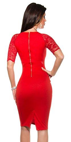 Sexy KouCla Business Kleid mit Spitze gerafft Koucla by In-Stylefashion SKU 0000K1841311 - 2