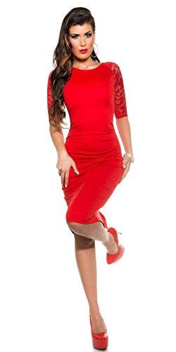 Sexy KouCla Business Kleid mit Spitze gerafft Koucla by In-Stylefashion SKU 0000K1841311 - 3