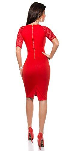 Sexy KouCla Business Kleid mit Spitze gerafft Koucla by In-Stylefashion SKU 0000K1841311 - 4