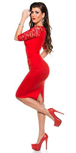 Sexy KouCla Business Kleid mit Spitze gerafft Koucla by In-Stylefashion SKU 0000K1841311 - 5