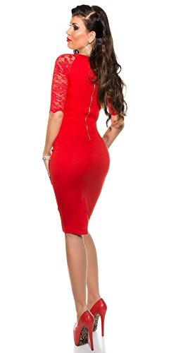 Sexy KouCla Business Kleid mit Spitze gerafft Koucla by In-Stylefashion SKU 0000K1841311 - 7