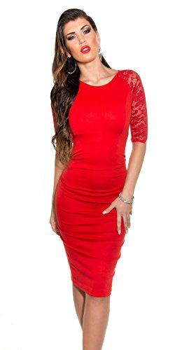 Sexy KouCla Business Kleid mit Spitze gerafft Koucla by In-Stylefashion SKU 0000K1841311 - 8