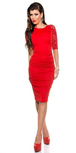 Sexy KouCla Business Kleid mit Spitze gerafft Koucla by In-Stylefashion SKU 0000K1841311 - 9