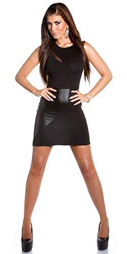 Sexy KouCla Club-Minikdress mit Netz in Lederlook Koucla by In-Stylefashion SKU 0000IN5057201 - 5