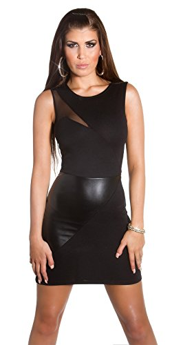 Sexy KouCla Club-Minikdress mit Netz in Lederlook Koucla by In-Stylefashion SKU 0000IN5057201 - 8