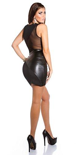 Sexy KouCla Club-Minikdress mit Netz in Lederlook Koucla by In-Stylefashion SKU 0000IN5057201 - 9