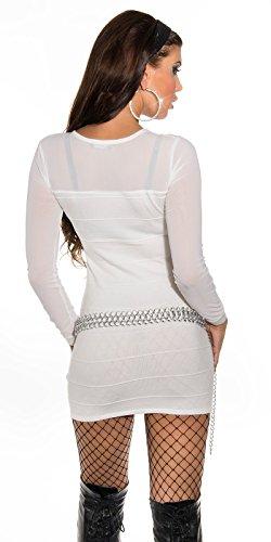 Sexy KouCla Longpulli Minikleid mit Nieten Koucla by In-Stylefashion SKU 0000ISF821406 - 2