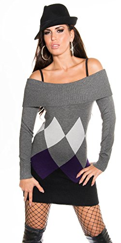 Sexy KouCla Longpulli mit Rauten-Muster Koucla by In-Stylefashion SKU 0000IN-08404 - 1