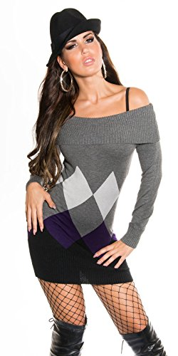 Sexy KouCla Longpulli mit Rauten-Muster Koucla by In-Stylefashion SKU 0000IN-08404 - 7