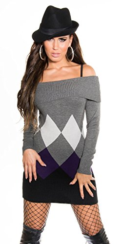Sexy KouCla Longpulli mit Rauten-Muster Koucla by In-Stylefashion SKU 0000IN-08404 - 9