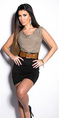 Sexy KouCla Minikleid Kurzarm mit Gürtel Koucla by In-Stylefashion SKU 0000K817102 - 5
