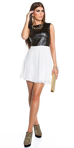 Sexy KouCla Minikleid mit Chiffon und Lederlook Koucla by In-Stylefashion SKU 0000K1818713 - 1