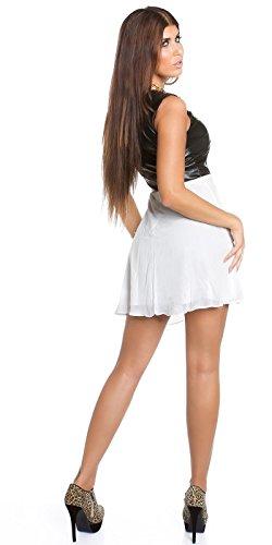 Sexy KouCla Minikleid mit Chiffon und Lederlook Koucla by In-Stylefashion SKU 0000K1818713 - 2