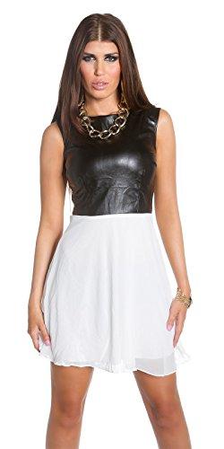 Sexy KouCla Minikleid mit Chiffon und Lederlook Koucla by In-Stylefashion SKU 0000K1818713 - 3