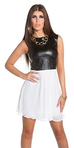 Sexy KouCla Minikleid mit Chiffon und Lederlook Koucla by In-Stylefashion SKU 0000K1818713 - 4