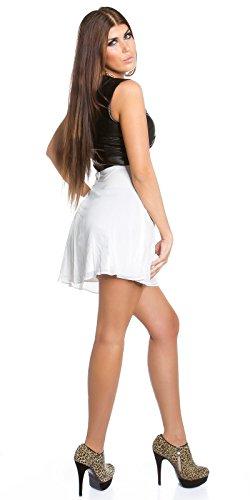 Sexy KouCla Minikleid mit Chiffon und Lederlook Koucla by In-Stylefashion SKU 0000K1818713 - 5