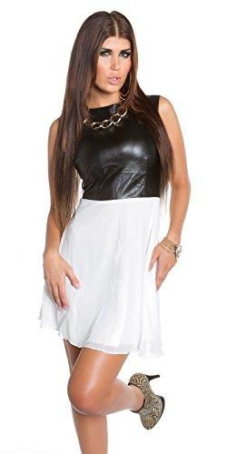 Sexy KouCla Minikleid mit Chiffon und Lederlook Koucla by In-Stylefashion SKU 0000K1818713 - 6