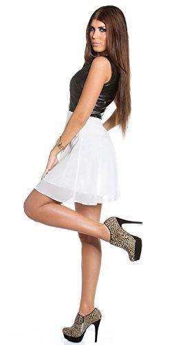 Sexy KouCla Minikleid mit Chiffon und Lederlook Koucla by In-Stylefashion SKU 0000K1818713 - 7