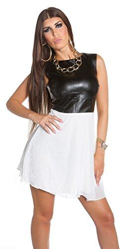 Sexy KouCla Minikleid mit Chiffon und Lederlook Koucla by In-Stylefashion SKU 0000K1818713 - 8