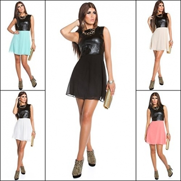 Sexy KouCla Minikleid mit Chiffon und Lederlook Koucla by In-Stylefashion SKU 0000K1818713 - 9
