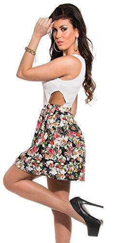 Sexy KouCla Minikleid mit Cut Outs + Blumenmuster Koucla by In-Stylefashion SKU 0000K184608 - 8