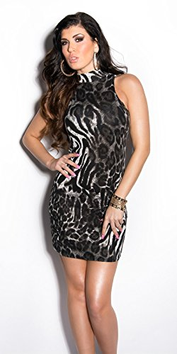 Sexy KouCla Minikleid mit Kragen und Leoprint Koucla by In-Stylefashion SKU 0000KW11-203 - 1
