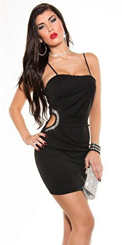 Sexy KouCla Minikleid mit Sexy Einblick und Strass Koucla by In-Stylefashion SKU 0000K329502 - 1