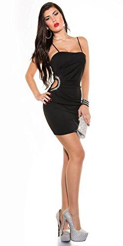 Sexy KouCla Minikleid mit Sexy Einblick und Strass Koucla by In-Stylefashion SKU 0000K329502 - 3