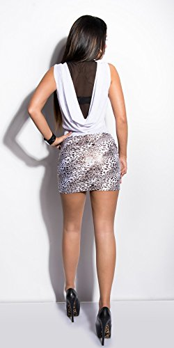 Sexy KouCla Minikleid transparent mit Leo-Print Koucla by In-Stylefashion SKU 0000K236506 -