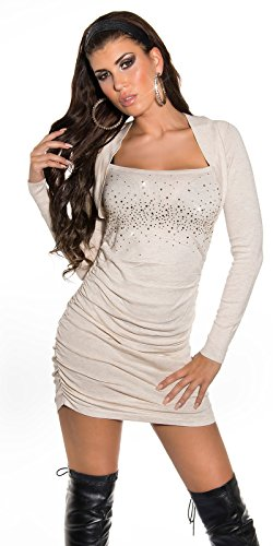 Sexy KouCla Strickminikleid gerafft mit Strass Koucla by In-Stylefashion SKU 0000ISF825801 - 4