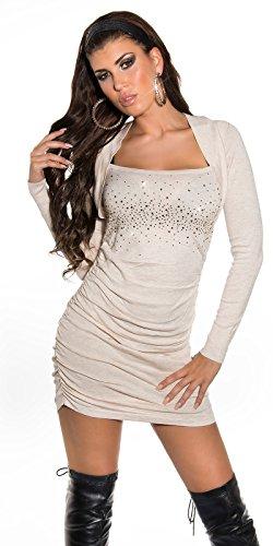Sexy KouCla Strickminikleid gerafft mit Strass Koucla by In-Stylefashion SKU 0000ISF825801 - 4