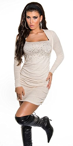Sexy KouCla Strickminikleid gerafft mit Strass Koucla by In-Stylefashion SKU 0000ISF825801 - 7