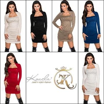 Sexy KouCla Strickminikleid gerafft mit Strass Koucla by In-Stylefashion SKU 0000ISF825801 - 8