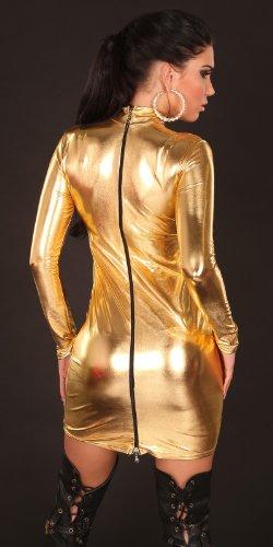 Sexy langarm Gogokleid m. Kragen u. Reißverschluss Koucla by In-Stylefashion SKU 0000KM401 - 2