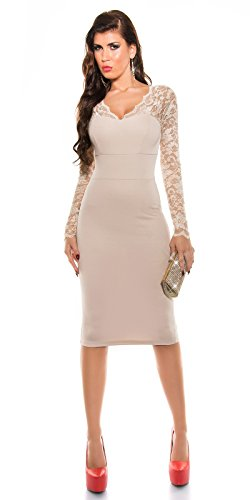 Sexy Midi-Dress mit Spitze und V-Auschnitt XS - 3