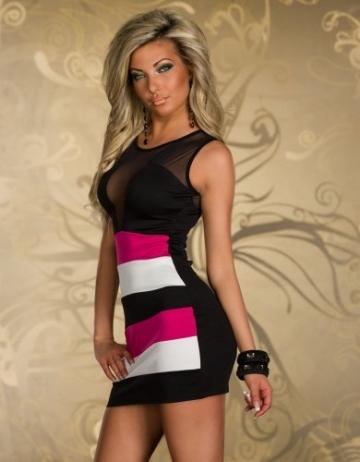 SeXy Minikleid Damen-Kleid aus Schleife Ideal als Abendkleid Kleid-Abend-Party Clubwear Rock Mini-Rock rot - 3
