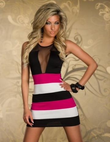 SeXy Minikleid Damen-Kleid aus Schleife Ideal als Abendkleid Kleid-Abend-Party Clubwear Rock Mini-Rock rot - 4