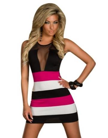 ツ Sexy Clubwear Kleid Pink Schwarz & Weiß ⋆ 2018 😍 ⋆ Sexy ...