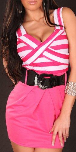 Sexy Minikleid, gestreift mit Gürtel Koucla by In-Stylefashion SKU 0000K801208 - 1