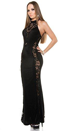 Sexy Neck-Kleid mit Spitzenstoff und geschnürt Koucla by In-Stylefashion SKU 0000ISF-G503 - 1