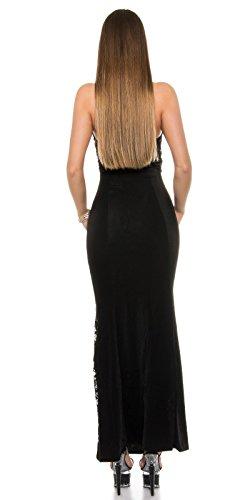 Sexy Neck-Kleid mit Spitzenstoff und geschnürt Koucla by In-Stylefashion SKU 0000ISF-G503 - 2