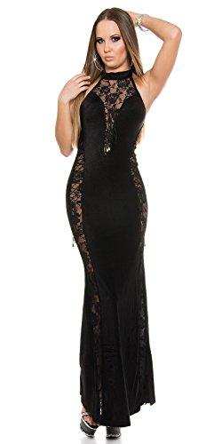 Sexy Neck-Kleid mit Spitzenstoff und geschnürt Koucla by In-Stylefashion SKU 0000ISF-G503 - 3