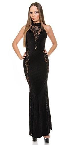 Sexy Neck-Kleid mit Spitzenstoff und geschnürt Koucla by In-Stylefashion SKU 0000ISF-G503 - 4