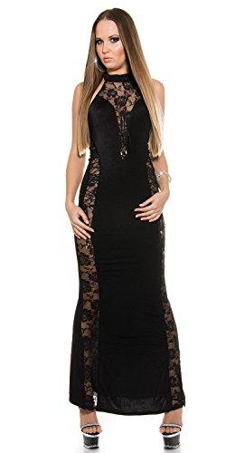 Sexy Neck-Kleid mit Spitzenstoff und geschnürt Koucla by In-Stylefashion SKU 0000ISF-G503 - 6