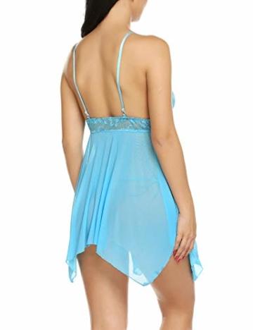 Sexy Negligee, Babydoll / Nachtkleid von Avidlove Blau 3