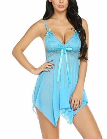 Sexy Negligee, Babydoll / Nachtkleid von Avidlove Blau 5