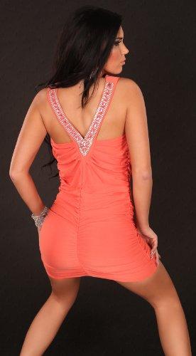 Sexy Partydress w. waterfallcut and rhinestones Koucla by In-Stylefashion SKU 0000A1-24003 - 5