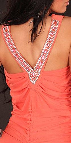 Sexy Partydress w. waterfallcut and rhinestones Koucla by In-Stylefashion SKU 0000A1-24003 - 6