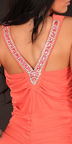 Sexy Partydress w. waterfallcut and rhinestones Koucla by In-Stylefashion SKU 0000A1-24003 - 7